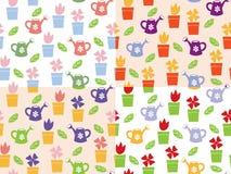 Teste padrão sem emenda de jardinagem do fundo Imagens de Stock Royalty Free