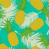 Teste padrão sem emenda do abacaxi Foto de Stock Royalty Free