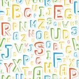 Teste padrão sem emenda do alfabeto Fotos de Stock