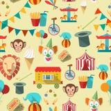 Teste padrão sem emenda do circo Foto de Stock Royalty Free