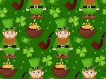 Teste padrão sem emenda do dia de St Patrick Textura infinita do fundo Ilustração do vetor Fotos de Stock