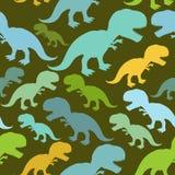 Teste padrão sem emenda do dinossauro Textura de Dino Imagem de Stock Royalty Free