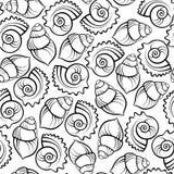 Teste padrão sem emenda do escudo do mar Imagem de Stock Royalty Free