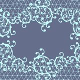 Teste padrão sem emenda do laço com ornamento florais Imagens de Stock Royalty Free