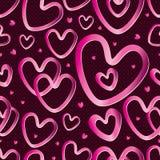 Teste padrão sem emenda do metal do amor Fotografia de Stock Royalty Free