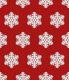 Teste padrão sem emenda do Natal tradicional com o floco de neve 3D isométrico Imagem de Stock