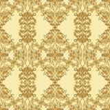 Teste padrão sem emenda do ouro Fotografia de Stock