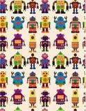 Teste padrão sem emenda do robô Imagens de Stock Royalty Free
