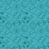 Teste padrão sem emenda do vetor com bolas do esporte Imagem de Stock Royalty Free