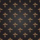 Teste padrão sem emenda do vetor da flor de lis francês Imagem de Stock Royalty Free