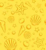 Teste padrão sem emenda do vetor da praia Imagens de Stock Royalty Free