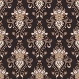 Teste padrão sem emenda do vetor do vintage da flor do damasco Imagem de Stock