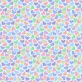 Teste padrão sem emenda do vetor, fundo colorido brilhante com corações Imagem de Stock Royalty Free