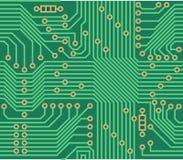 Teste padrão sem emenda do vetor - fundo da placa de circuito eletrônico Fotos de Stock