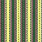 Teste padrão sem emenda do vetor Fundo verde, cor-de-rosa e amarelo geométrico simétrico com linhas e pontos Ornamen de repetição Fotos de Stock