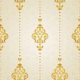 Teste padrão sem emenda do vetor no estilo vitoriano Imagens de Stock Royalty Free