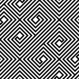 Teste padrão sem emenda do vetor preto e branco abstrato do ziguezague Fotos de Stock