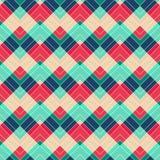 Teste padrão sem emenda do ziguezague retro Fotografia de Stock Royalty Free