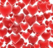 Teste padrão sem emenda dos corações 3d Fotos de Stock Royalty Free