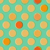 Teste padrão sem emenda dos círculos retros Imagens de Stock Royalty Free
