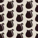 Teste padrão sem emenda dos gatos Foto de Stock Royalty Free