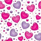 Teste padrão sem emenda dos Lollipops Fotos de Stock Royalty Free
