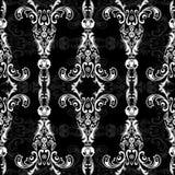 Teste padrão sem emenda floral com arabesque, ornamento oriental do damasco Decoração tradicional abstrata para fundos, papel de  Foto de Stock