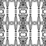 Teste padrão sem emenda floral com arabesque, ornamento oriental do damasco Decoração tradicional abstrata para fundos, papel de  Imagem de Stock Royalty Free