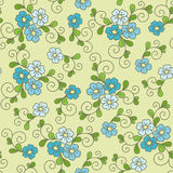 Teste padrão sem emenda floral com miosótis Fotografia de Stock Royalty Free