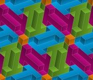 Teste padrão sem emenda isométrico fundo da ilusão 3d ótica Imagem de Stock Royalty Free