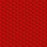 Teste padrão sem emenda isométrico vermelho do Natal ilusão 3d óptica Imagens de Stock