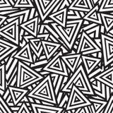 Teste padrão sem emenda preto e branco abstrato. Vetor Fotos de Stock Royalty Free