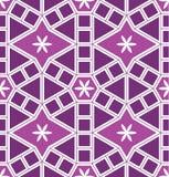Teste padrão sem emenda roxo do círculo moderno de Mosaico Le Domus Romane Fotos de Stock