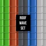 Teste padrão sem emenda telhado do telhado Foto de Stock Royalty Free