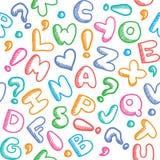Teste padrão do alfabeto Imagem de Stock