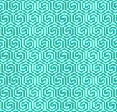 Teste padrão sextavado geométrico abstrato sem emenda - vector eps8 Foto de Stock
