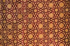 Teste padrão tailandês tradicional da arte da pintura do estilo na parede Imagens de Stock Royalty Free