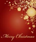 Teste padrão temático do fundo do frame do Natal vermelho Fotos de Stock