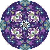Teste padrão tradicional chinês oriental do círculo da flor de lótus Fotos de Stock