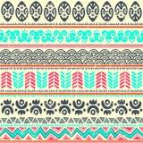 Teste padrão tribal abstrato Fotos de Stock