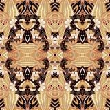 Teste padrão tribal abstrato sem emenda (vetor) Foto de Stock