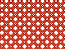 Teste padrão vermelho da manta da flor retro Imagens de Stock