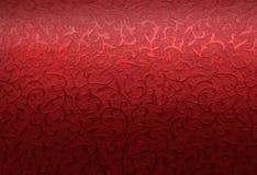 Teste padrão vermelho de brocado do Natal Foto de Stock Royalty Free