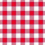 Teste padrão vermelho do guingão Textura sem emenda do vetor Fotografia de Stock Royalty Free