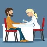 Teste para o diabetes ilustração do vetor