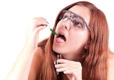 Teste químico científico Imagem de Stock