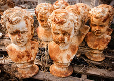 Teste statuarie arrugginite Immagine Stock