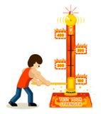 Teste sua força ilustração do vetor