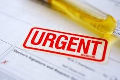 Teste urgente da patologia imagem de stock royalty free