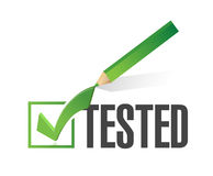 tested check mark illustration design Stock Photography